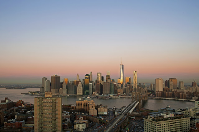 Photo of new towers with Lower Manhattan skyline as seen from the Brooklyn