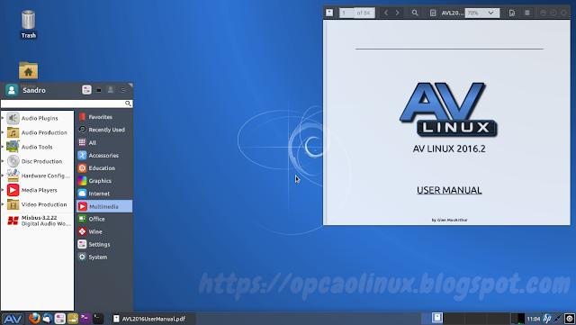 AV Linux 2016 Desktop