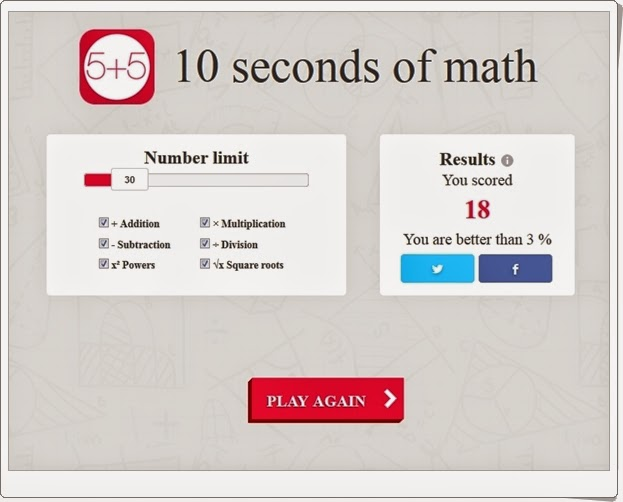 http://recursoseducativosdesecundaria.blogspot.com/2014/12/10-seconds-of-math.html