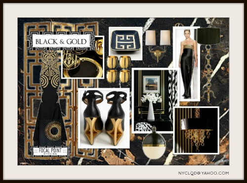 Focal Point Styling Moodboard Monday Black Amp Gold