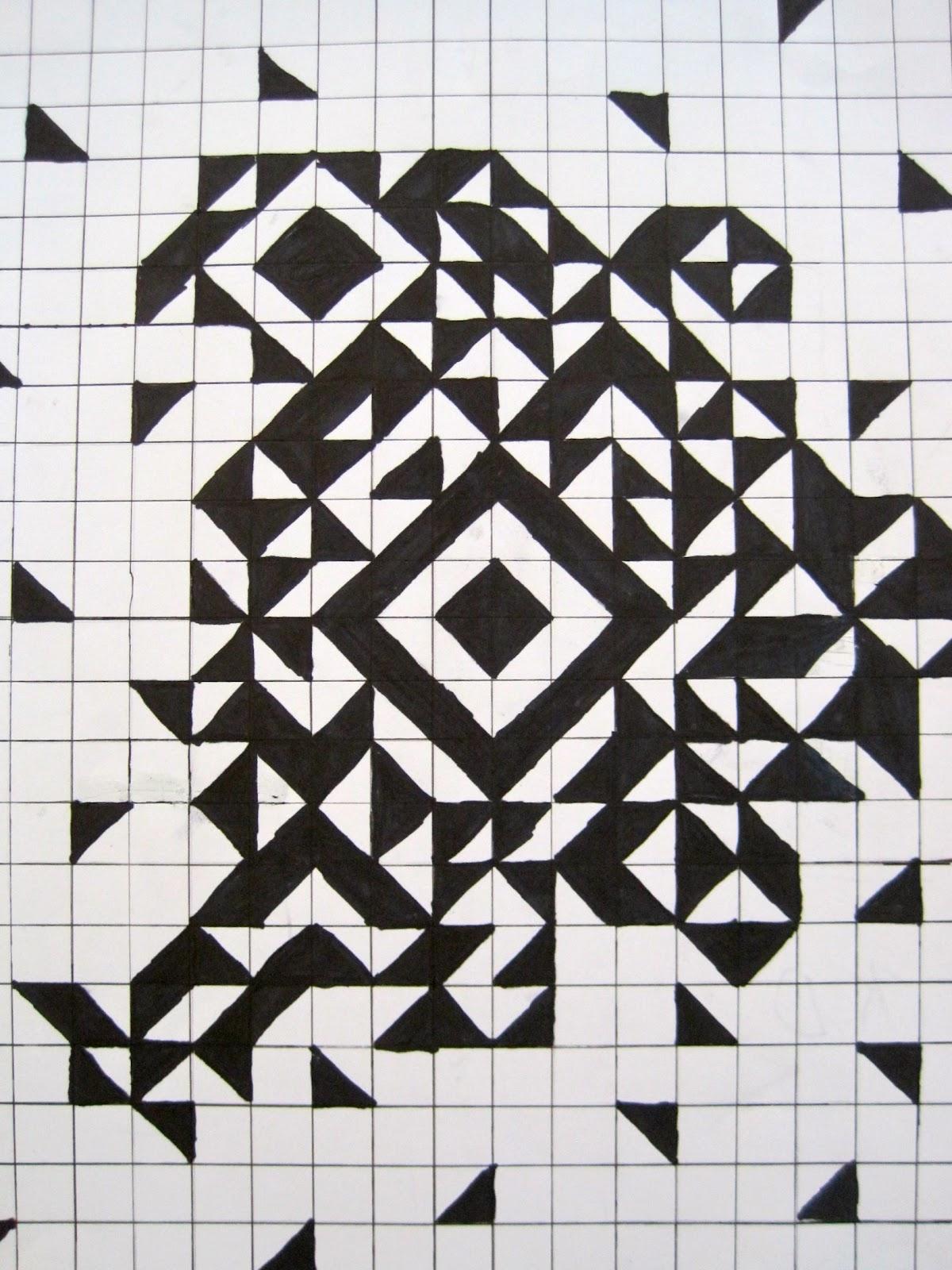 Pinewood Art Grid Art 8th Grade