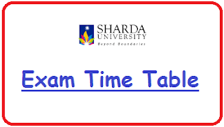 Sharda University Exam Date Sheet 2019