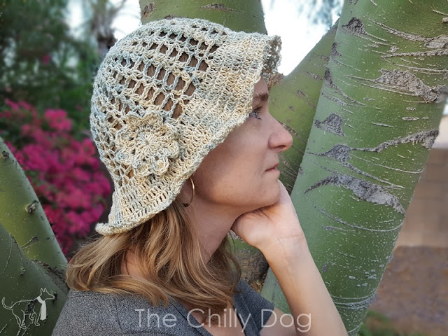 Stay cool this summer and block the sun with the Hazy Daze Hat crochet hat pattern.