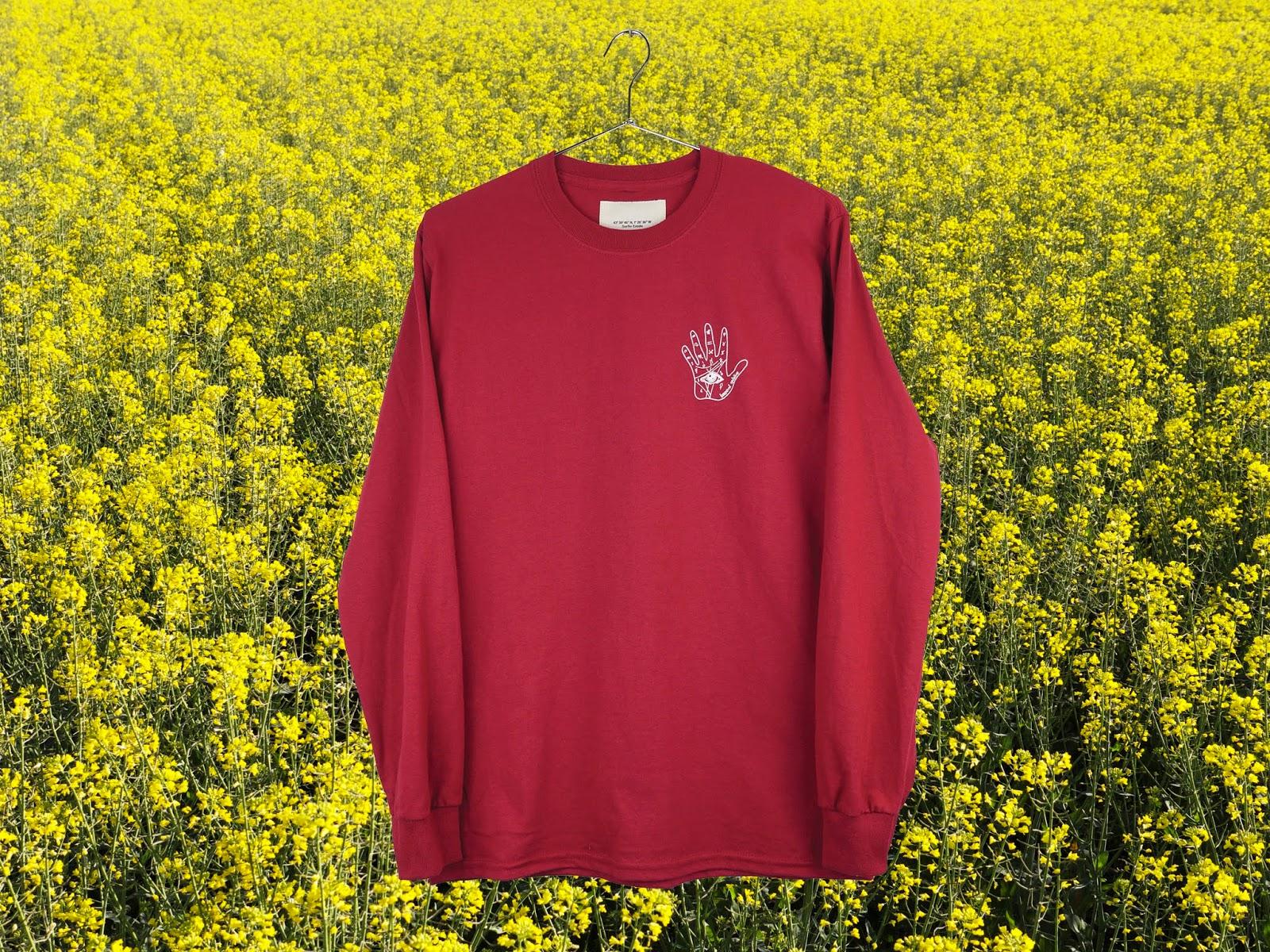 T-shirt Palm Lines Burgundy - SurfinEstate.fr