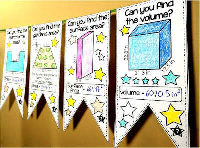 Volume and Surface Area Math Pennant