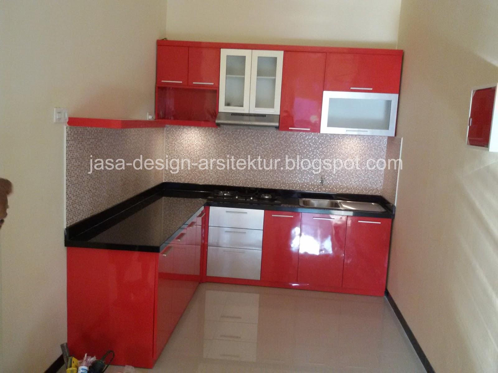 Kontraktor Interior Surabaya Sidoarjo Desain Kitchen Set Warna