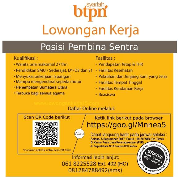 Lowongan Bank BTPN Syariah Medan