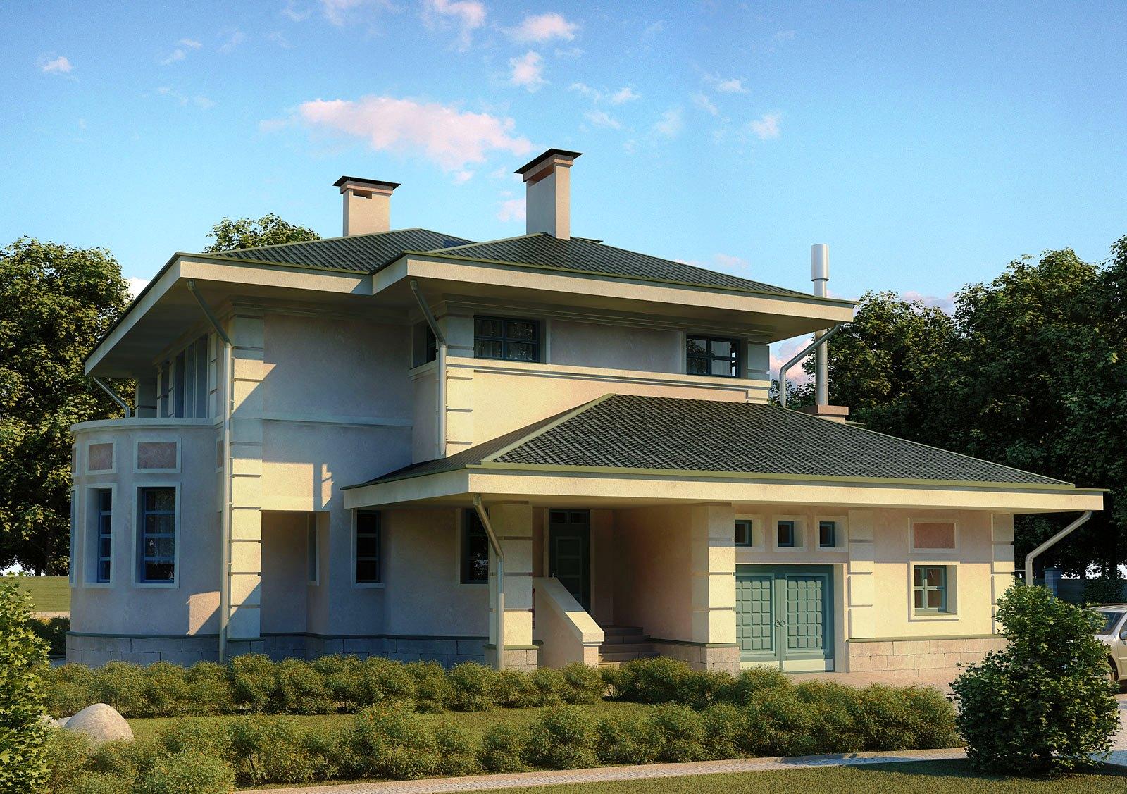 Europe 3D Design House Front Elevation - 3D Front ...