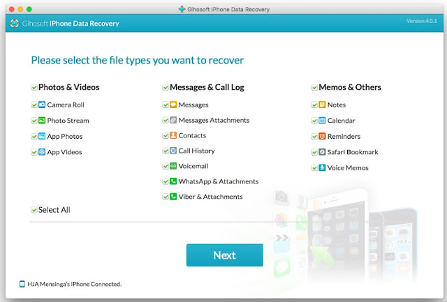 Cara Recovery Data iPhone dan Android dengan Gihosoft iPhone Data Recovery