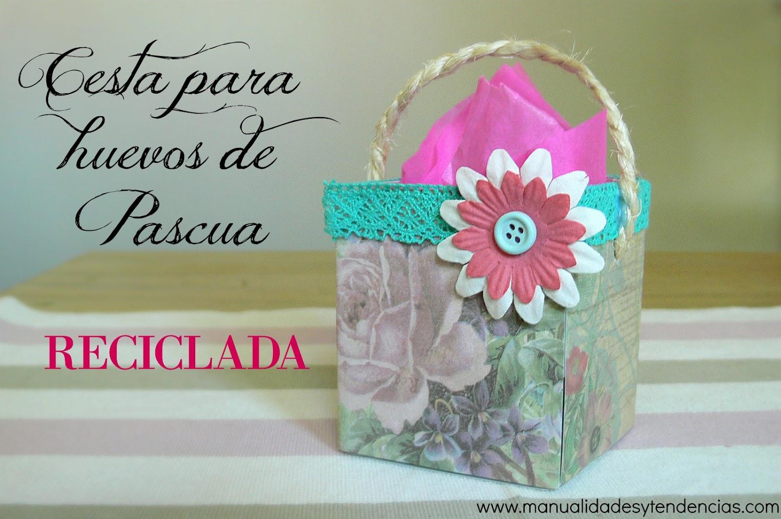 Cesta De Huevos De Pascua Reciclada Recycled Easter Basket Handbox