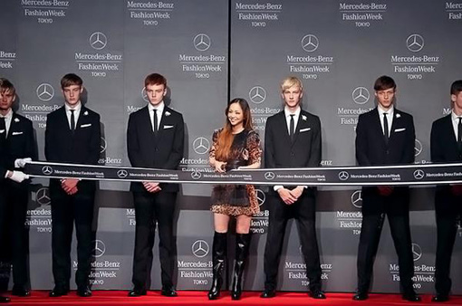 Namie emerges to cut the ribbon for the opening ceremony of Tokyo fashion week. Then goes home | RandomJpop