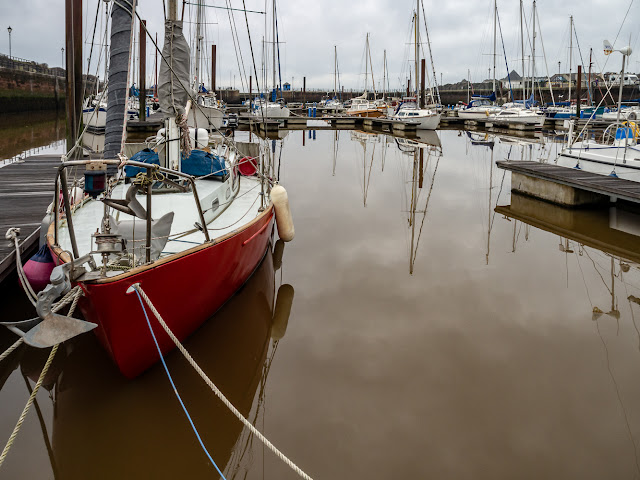 Photo of muddy water in Maryport Marina on Sunday