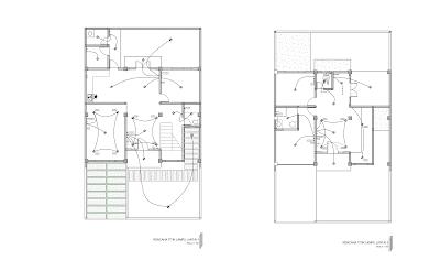 Gambar Rencana Titik Lampu Lantai 1 dan 2