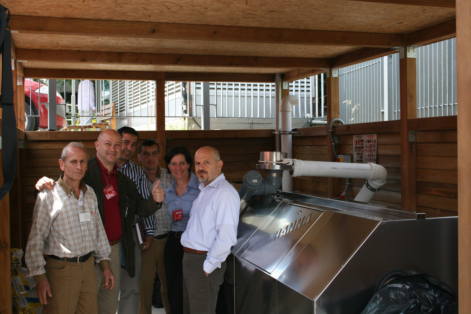Big Hanna Composter installed at the Coca-Cola Company Headquarter