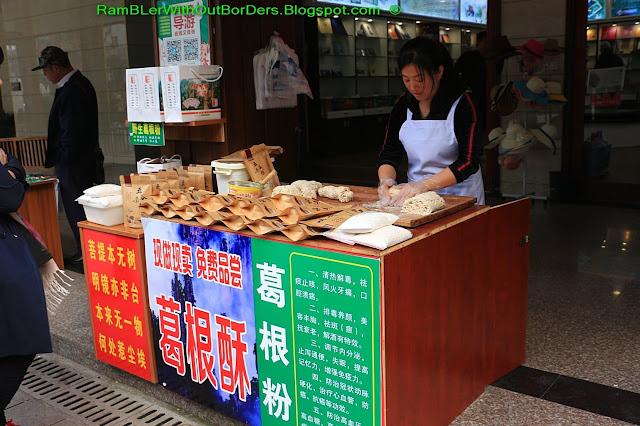 Candy stand, Baofeng Lake, Zhangjiajie, Hunan, China