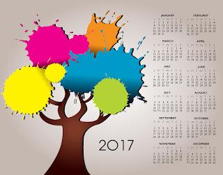 2017カレンダー無料テンプレート64