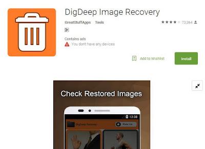 cara mengembalikan foto yang terhapus di memory card