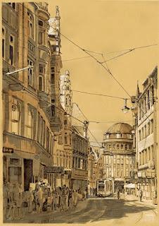 Ulrichstraße in Halle von Claudia Gabriele Meinicke