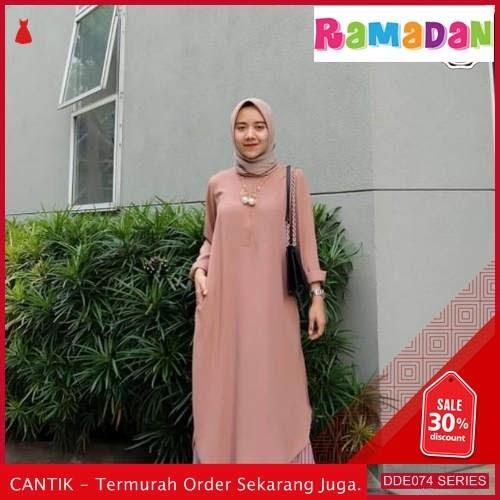 DDE074P40 Promo Baju Muslimah Dress Lebaran Gamis 2019 Syari BMGShop