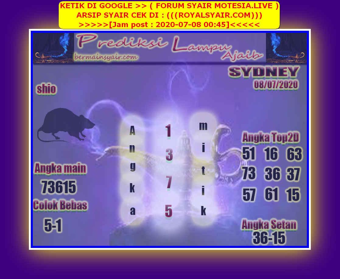 Kode syair Sydney Rabu 8 Juli 2020 210