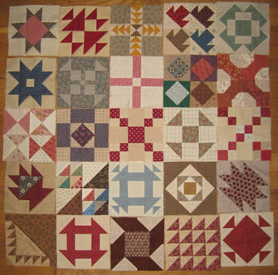 Cheri Payne's Everyday Patchwork sampler blocks