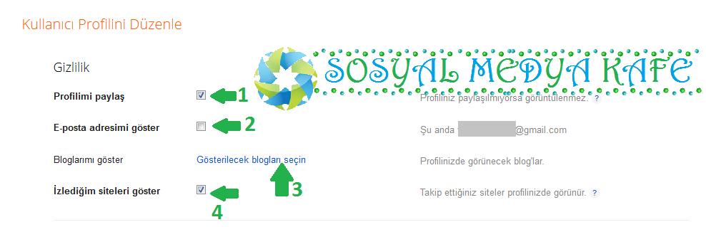 blogger kullanıcı profili düzenleme