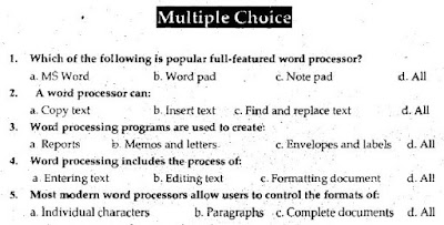 1st Year Computer Chapter 8 MCQs Solved pdf - ICS Part 1