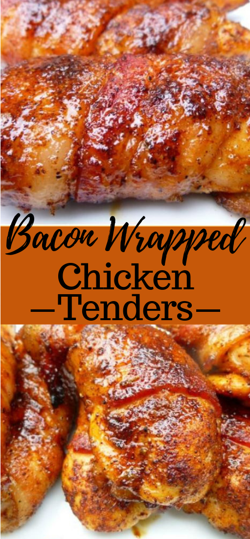 BACON-WRAPPED CHICKEN TENDERS #bacon #dinner
