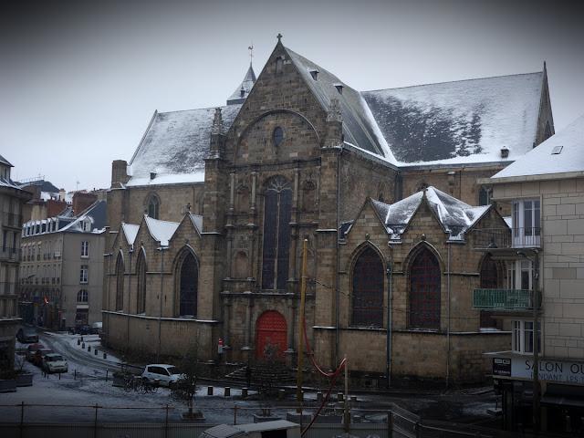 Et phénomène assez rare : l'Église Saint-Germain sous la neige ! 01 Mars 2018