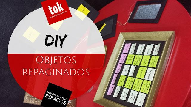 DIY - Objetos repaginados com tinta spray preta e dourada