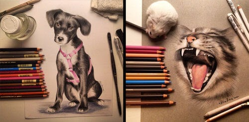 00-Silvia-Leone️️-Cats-and-Dogs-Color-Pencil-Drawings-www-designstack-co