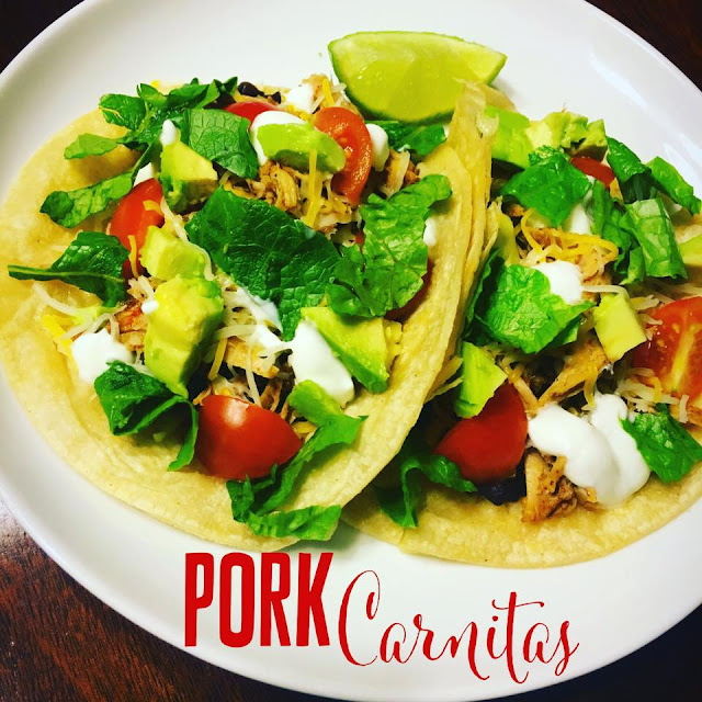 pork recipes, crockpot dinner, crockpot meals, pork carnitas, clean eating, sarah griffith, top beachbody coach,