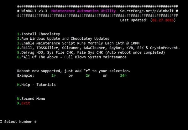 WinBOLT - Αυτοματοποιήστε την συντήρηση των Windows