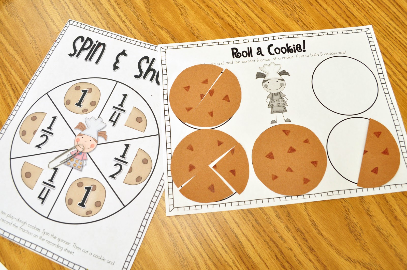 Mrs Ricca S Kindergarten Yummy Fractions Freebie