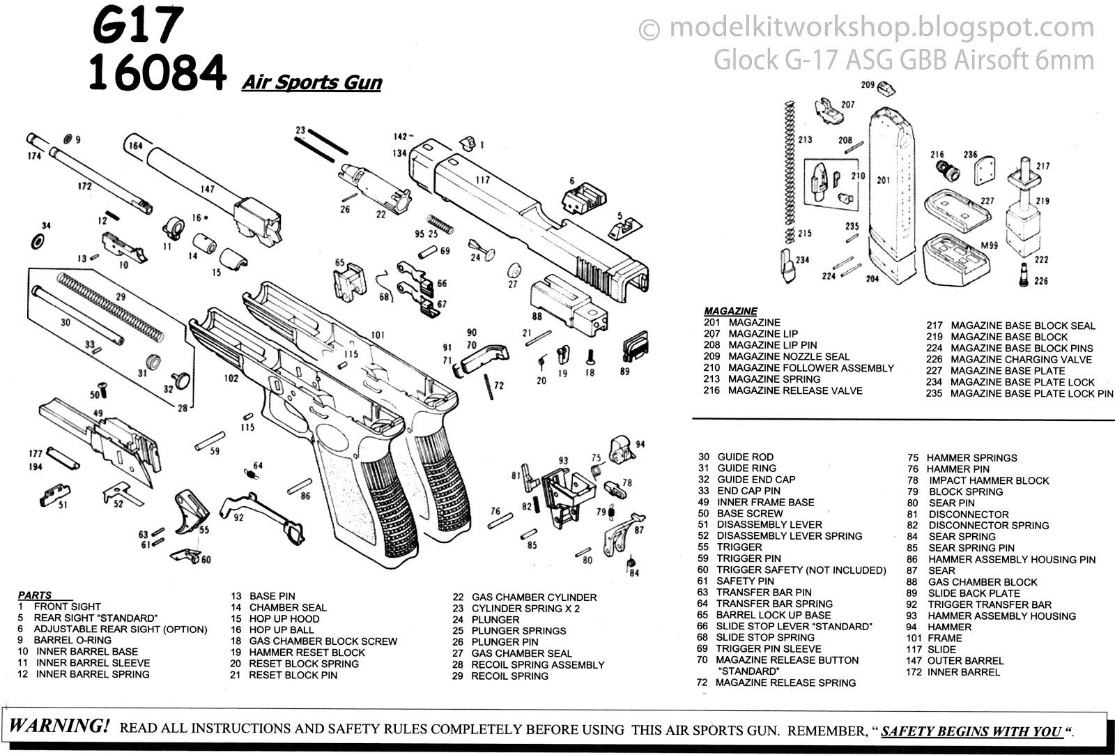 Modelkit Workshop Airsoft Asg Glock G 17