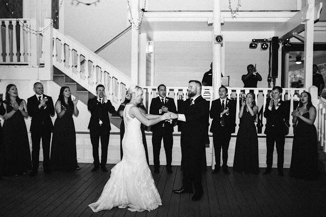 Vintage black & white bride and groom photo