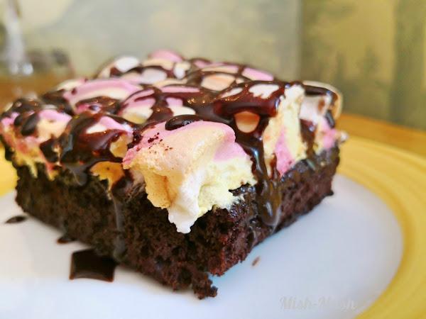 Шоколадов кейк с маршмелоу