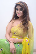 Sony Charista sizzling look in saree-thumbnail-10