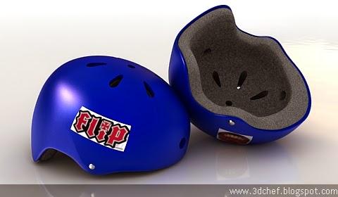 skate helmet 3d model free