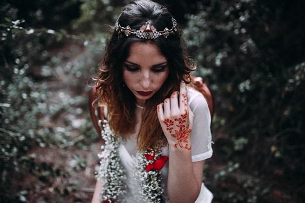 Detalles del look de la novia