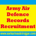 Army Air Defence Records Jobs