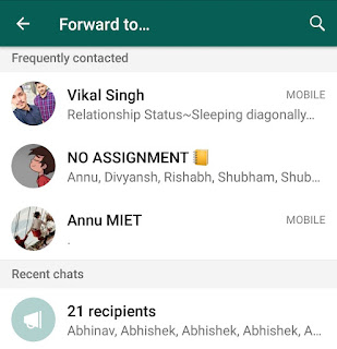 Forward WhatsApp message to more than 5 chats