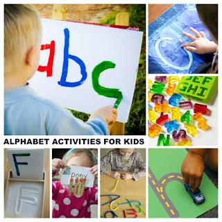 50+ FUN ways for kids to learn and review the alphabet! #alphabetactivities #alphabetcraftspreschool #preschoollearningactivities #growingajeweledrose