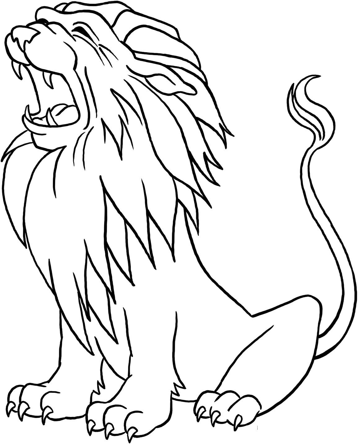 Sketsa Gambar Hewan Singa