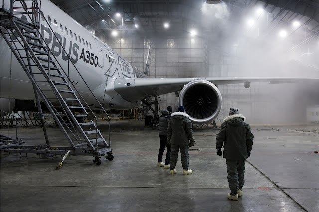 Airbus A350-900 XWB During Hot and Cold Test