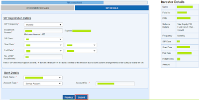 Tata Mutual Fund - Online SIP