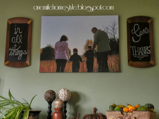 In all things, give thanks chalkboard art