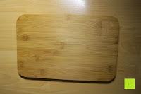 Deckel: Brotkasten aus Metall mit Deckel aus Bambus | 32 x 20 x 12 cm | Bewahren Sie Ihr Brot luftdicht und hygienisch auf
