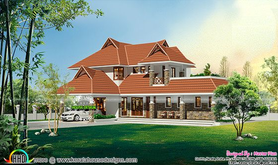 Traditional roof Kerala home