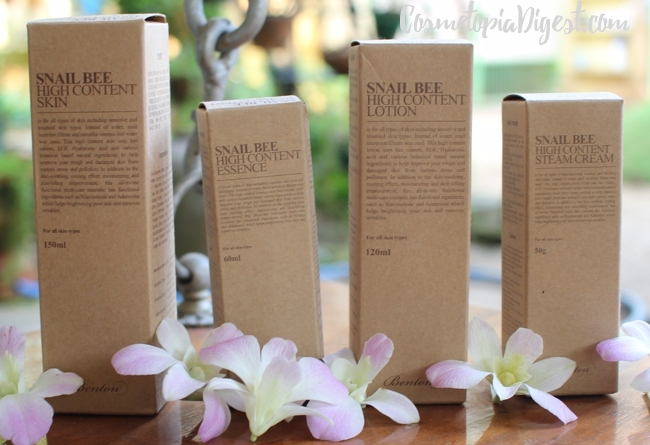 Benton Snail Bee High Content Skin, Essence, Lotion and Steam Cream review